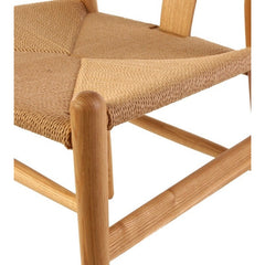 Wishbone Cord Dining Chair - Hans Wegner Replica - Beech