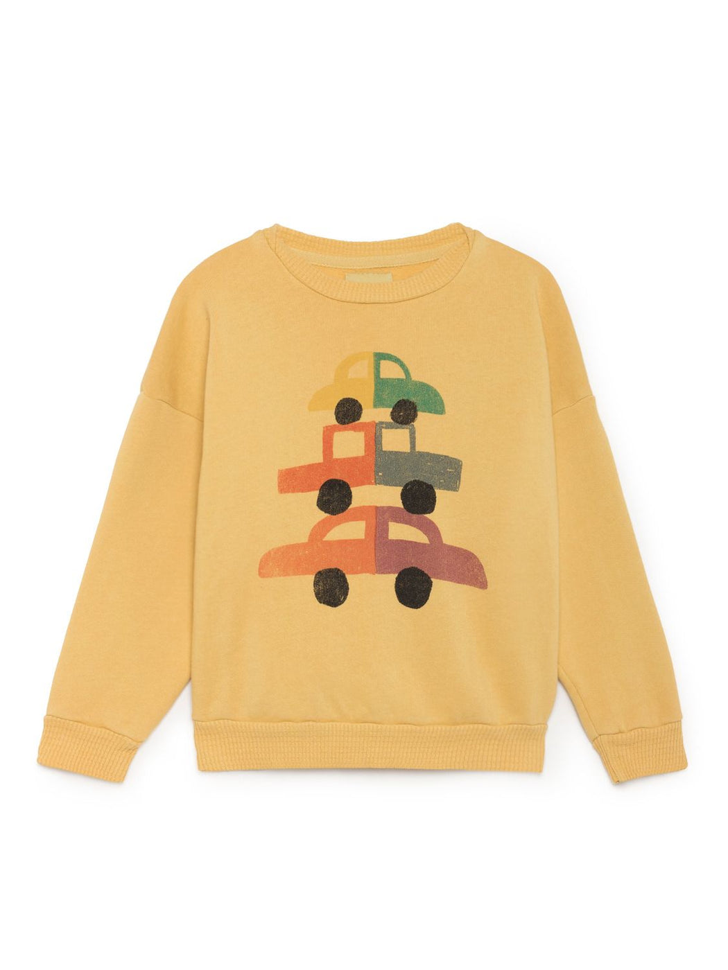 Bobo Choses Cars Round Neck Sweatshirt