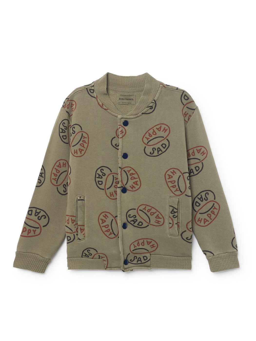 Bobo Choses Happy Sad Buttons Sweatshirt