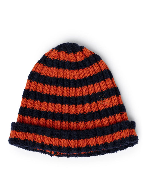 Bobo Choses Orange Striped Beanie