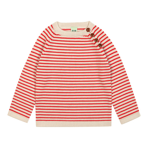 FUB Sweater (ecru/red)