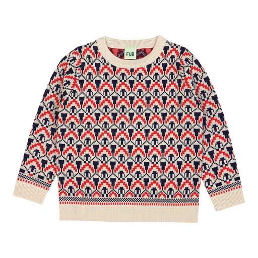 FUB Nordic Sweater (ecru/red/navy)