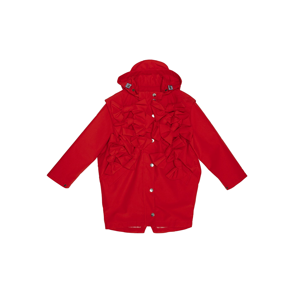 GOSOAKY - LADY BUTTERFLY PARKA WITH BOWS