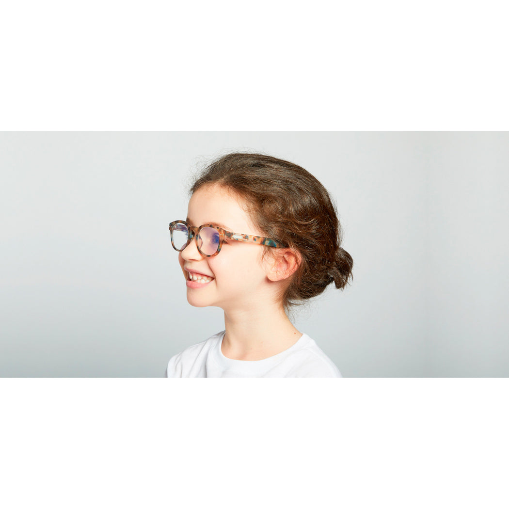 SCREEN GLASSES #C | JUNIOR | BLUE TORTOISE