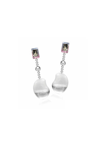 Long Big Diamond Water Droplet Earrings