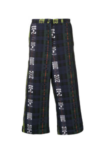 KENTUCKY TROUSERS DARK GROWING LETTERS BLUE CHECK