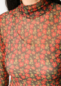 POLLEN TURTLE TOP FLOWER RED