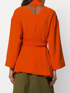 COLLECT BLOUSE BURNED ORANGE