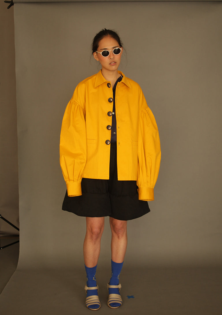DANSHAN Yellow Lantern Sleeve Jacket