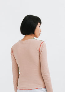 VEIN TEE-COTTON RIB (Shell, Short / Long Sleeves)