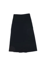 Double-wool Pleated Skirt Black