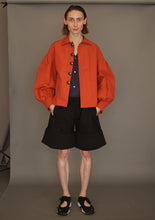 DANSHAN Orange Lantern Sleeve Jacket