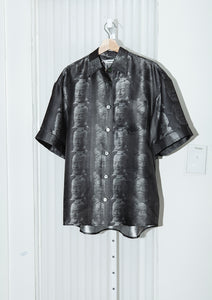PRONOUNCE TERRA-COTTA WARRIORS PRINTED METALLIC SHIRT