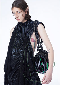 NUTEMPEROR Xenotransplantation Project YinYin bag 022 Black & Green