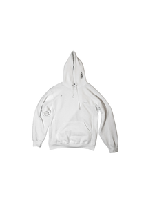 Hoodie w Earrings (Black & White)