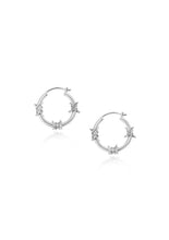 Cable ring earrings