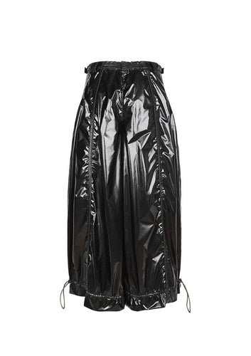 (Pre-order, Shipping in late-July) NUTEMPEROR Xenotransplantation Project 020 - Reflective Black Trousers