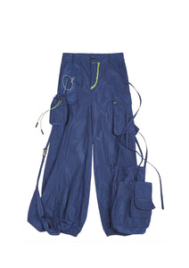 (Pre-order, Shipping in late-July) NUTEMPEROR Xenotransplantation Project 003 - Multi-pockets Trousers