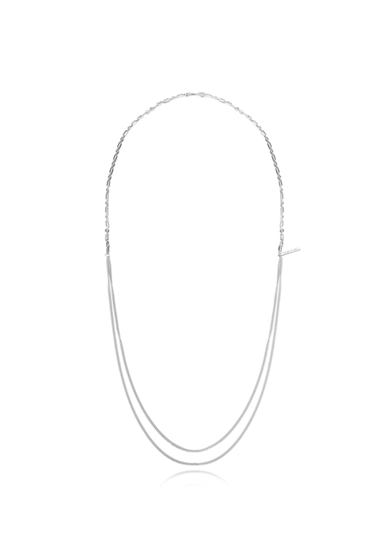 Irregular splicing long necklace