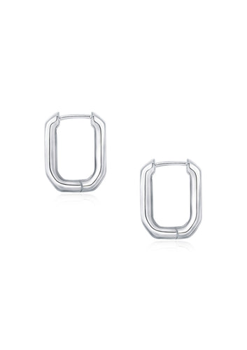 U-shaped lettering earrings