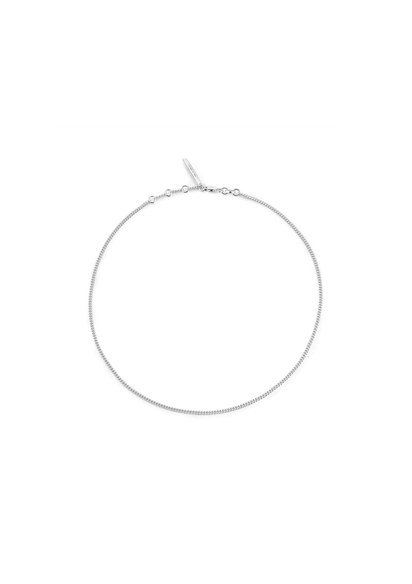 Basic pure silver necklace (For man )