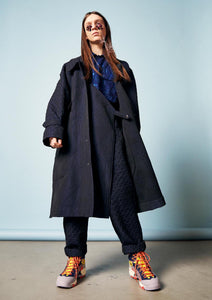 TOOL COAT NAVY BLACK