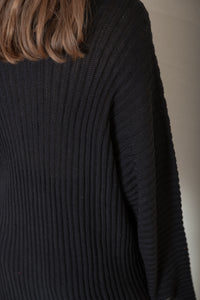 KAI HIGHNECK SWEATER -SILK LINEN RIB