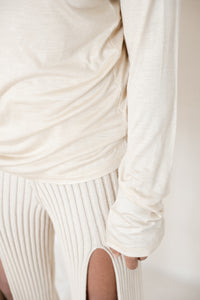 CIRRI PANT-COTTON RIB