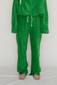 DOUGLAS PANTS -RIB TERRY FLEECE