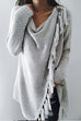 Lbduk New Style Turndown Collar Tassel Cardigan