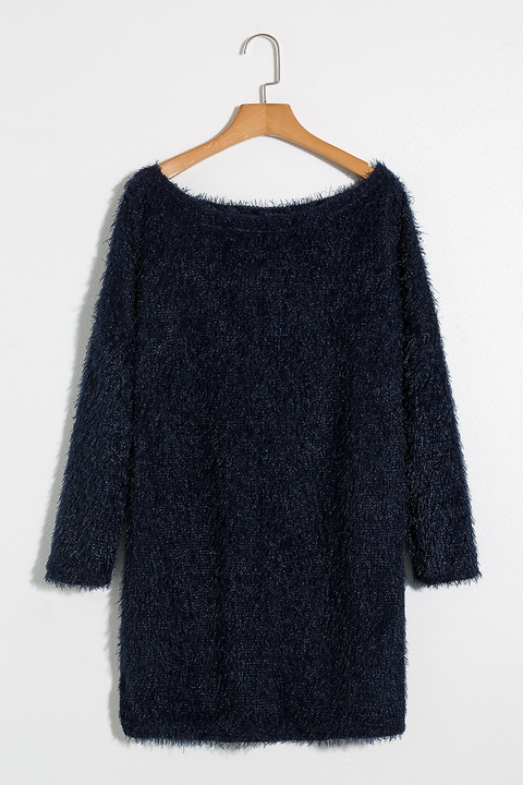 Lbduk Napa Valley Loose Asymmetric Shoulder Sweater
