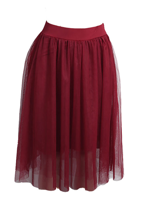 Lbduk Gone With The Wind Gauze Pleated Skirt 4 Colours