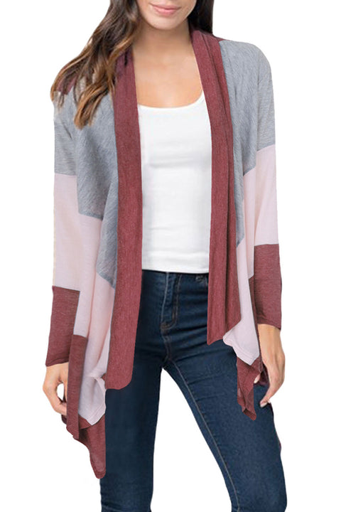 Lbduk Leisure Turndown Collar Long Sleeves Asymmetrical Cardigans