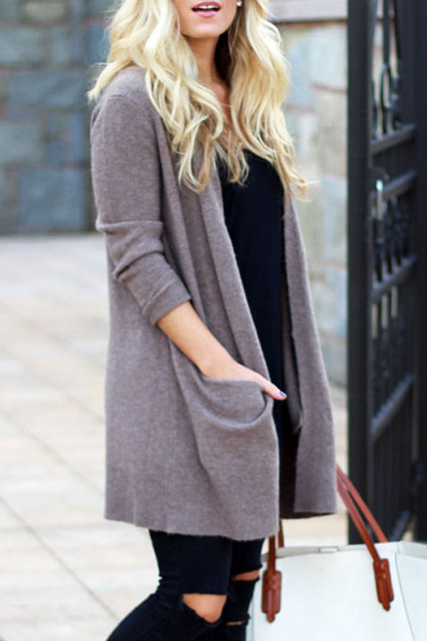 Lbduk Knit Casual Long Cardigan