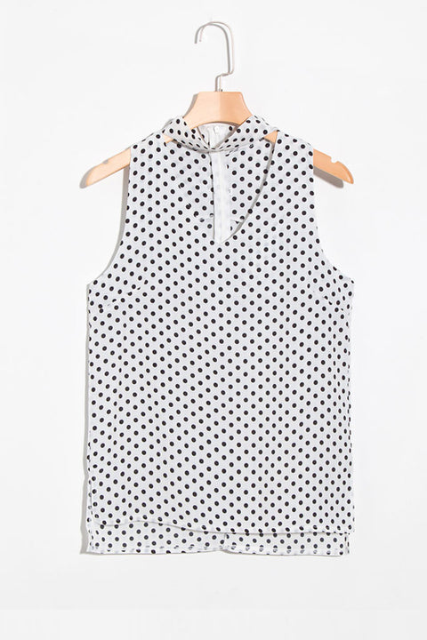 Lbduk Neck  Dot Printed Tank Top