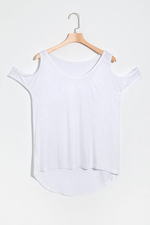 Lbduk  Round Neck Dew Shoulder Design  T-shirt