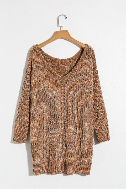 Lbduk One Off Shoulder Cable Knit Sweater