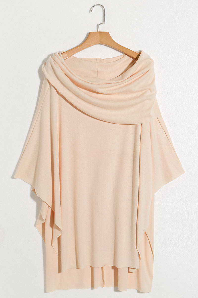Lbduk Beige Cold Shoulder Irregular Hem Shirts 5 Colours