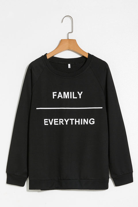 Lbduk Family Everything Printed Black Sweatshirt