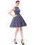 Polka Dot Sleeveless Boat-Neck Swing Vintage A-Line Dress