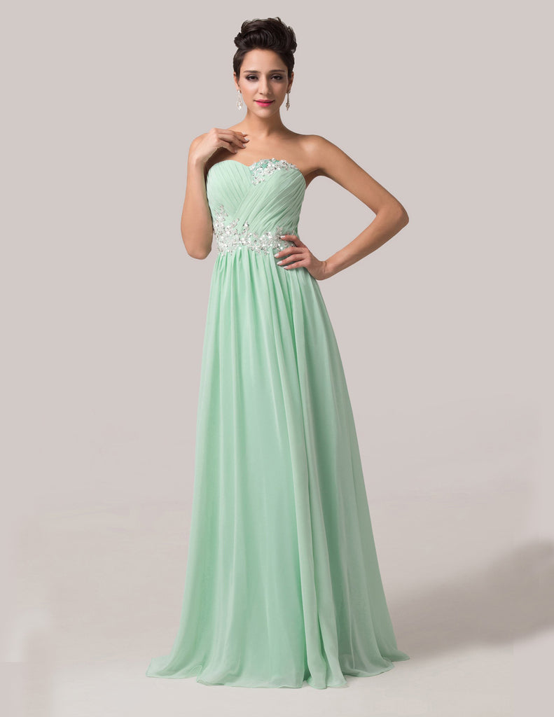 Ball Gown Evening Party Dress - Strapless Chiffon