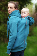 Load image into Gallery viewer, 3in1 Babywearing coat, baby wearing jacket, baby carrier cover,  Front/Back kangaroo hoodie