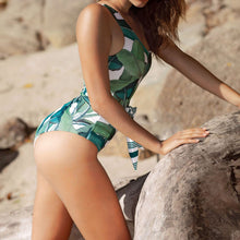 Load image into Gallery viewer, Printed Beach Vacation One Piece Bikini