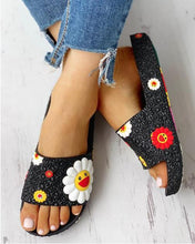 Load image into Gallery viewer, Colorful Sunflower Pattern Casual Sandals