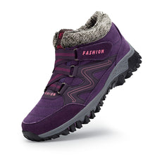 Load image into Gallery viewer, Large size outdoor women's shoes warm and velvet snow boots