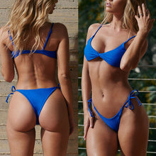 Load image into Gallery viewer, 2pcs/Set Women's Sexy Padded Separated  Bikini Swimsuit Beach Holiday Swimwear