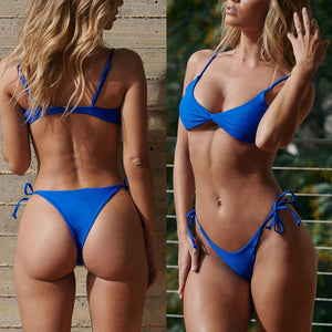 2pcs/Set Women's Sexy Padded Separated  Bikini Swimsuit Beach Holiday Swimwear