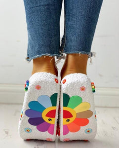 Colorful Sunflower Pattern Casual Sandals