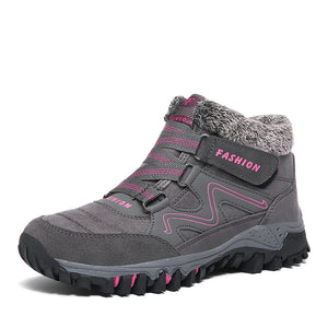 Large size outdoor women's shoes warm and velvet snow boots