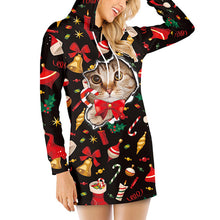 Load image into Gallery viewer, Digital Print Hooded Long Sleeve Dress